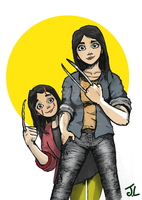 Wolverine (Laura Kinney a.k.a X-23) and Gabby by james2work