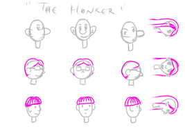 Characters for The Honker by sanakito