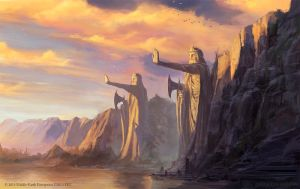 The Argonath - Lord of the Rings TCG by jcbarquet