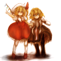 Marisa and Flandre by ReinedBloom