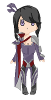 Pixelated Nightraven Fiora by Veegal