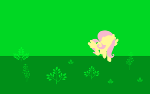 Fluttershy Minimal Forest WP by LuckyDjesty