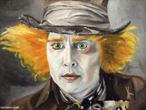 Johnny Depp - The Mad Hatter by shaman-art