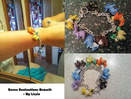 Eevee Evoloutions Bracelet by XxLissiexXx
