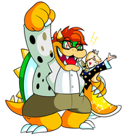 Commission - New Bowser and Rosalina by JamesmanTheRegenold