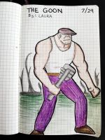 Daily Sketch Challenge: The Goon by subatomiclaura