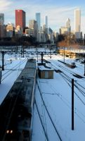 Outbound Metra Electric by Skyscraperjunkie