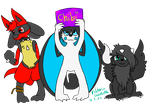 Chibis in flat color by ButlerVicki