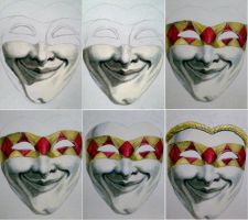 harlequin mask wip1 by aramismarron