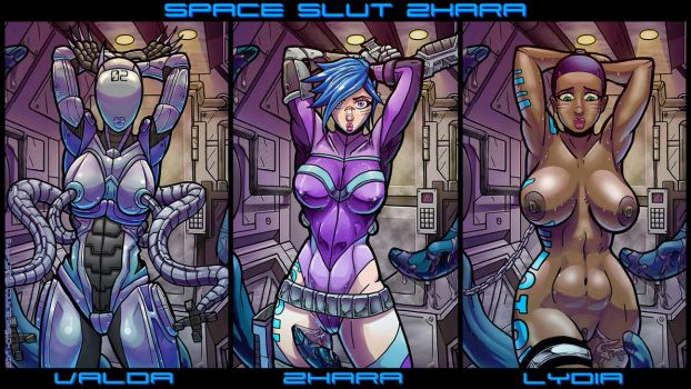 The Ladies of 'Space Slut Zhara' Wallpaper by hombre-blanco