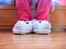 White Tiger, kind of, Slippers by ExileLink