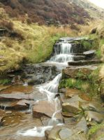 Waterfall - Peak District by PhilsPictures