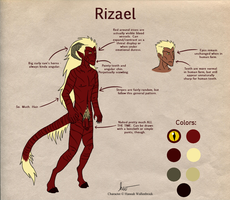 Rizael Reference Sheet by coyotewinds