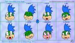 Eight Expressions - Larry Koopa by blueyoshiegg