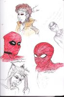 some marvel sketces by candycotten