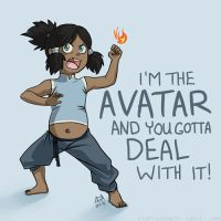 Toddler Korra by stuffaeamade