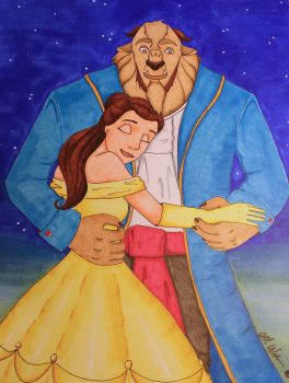 Lets dance -- Beauty and the Beast by intotheforests