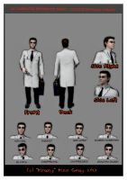 OC Character Ref Sheet for Doctor Raymond Phelps by krazykez