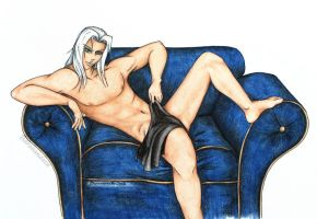 Sephiroth strikes a pose by barananduen