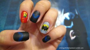 Batfamily Nails by tharesek