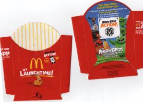 Angry Birds french fry cartons from McDonalds! by AngryBirdFan