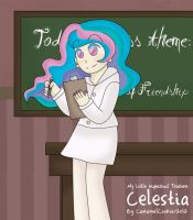 My Little HighSchooler - Celestia by CaramelCookie