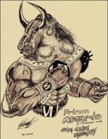 Dragon Shadou - Asgarde The Minotaur Lord by WillOTheWhisp