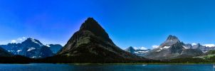 Swiftcurrent Lake Pano by KRHPhotography