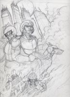 Mega-Man 10 cover Pencil Ver by NationalGeo