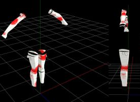 mmd bloody bandages arms and legs by RoxaDragonsoul