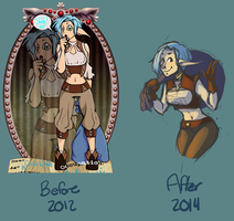 Castor: Before and After by Crickettle