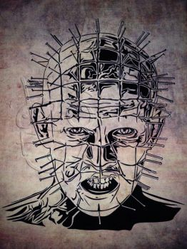 Hellraiser LineArt Vector by ndop