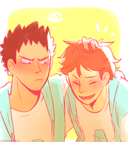 Iwa + Oiks by blargberries