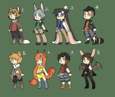 Animuls adopts by Ide-Adopts