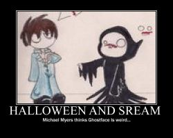 Halloween and Scream by jason-the-13th