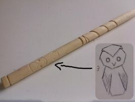 Owl Wand by Harry-Potter-Addict