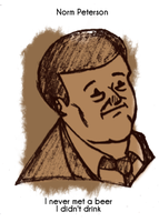 Daily Sketch 62: Norm Peterson by kingofsnake