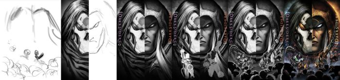 Darksiders Poster Process 2011 by Tonywash