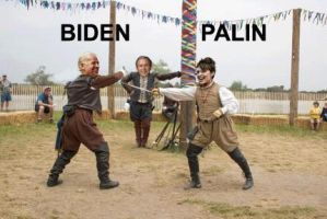 Biden and Palin at Renfest by Joshamuffin