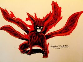 Naruto Four Tails mode by SuperAsian143