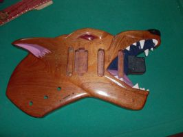 Wolf Guitar with lacor by kingnothing7718