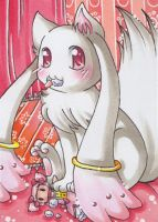 ACEO Kyubey Incubator by LuckyAngelausMexx
