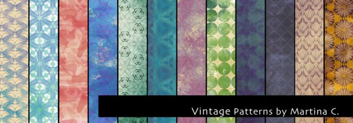 Vintage patterns pack by martinacecilia