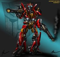 Transformers Movie Hot Rod 2 by agentdc7