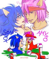 Amy and Sonic......? by shanghairuby