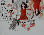 Selena Gomez Collage by malk-rou7i