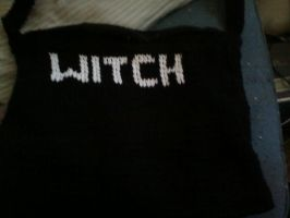 knitted purse front by DarkZoneRomana