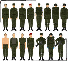 Panterria - Royal Army BDU And Garrison Uniforms by Grand-Lobster-King