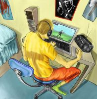 Extreme gamer by pandracchio
