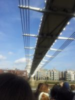 Millennium Footbridge from below by Saliona93